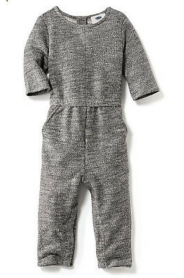 7afa62f0cd50 Old Navy Toddler Girls French Terry Long Romper Jumpsuit sz 4T 3 4 Sleeve  EUC