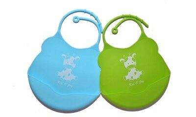 Silicone Baby Bibs (Pack of 2)
