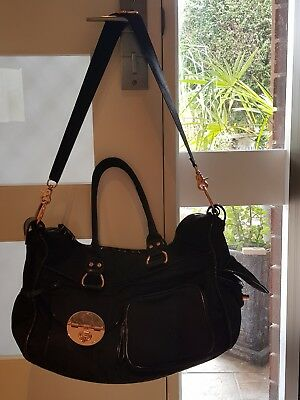 Mimco Turnlock Lucid Baby Nappy Bag Black Rosegold
