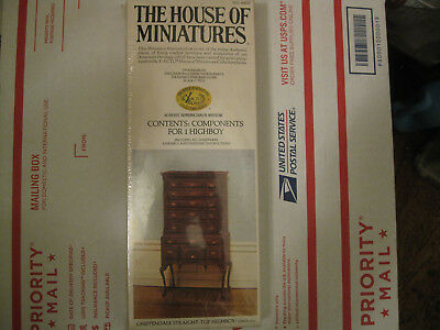 Vintage The House Of Miniatures X-Acto Chippendale Straight-Top Highboy #40022