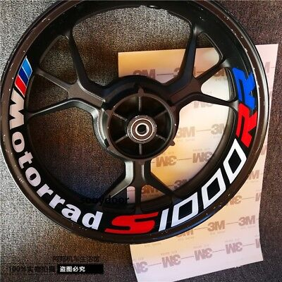 Pair S1000R or S1000RR Rear Wheel Rim 3M Decal M Sticker Fit For BMW Motorrad