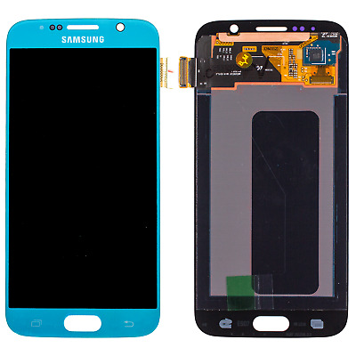 Original Samsung S6 Display G920F LCD Front Glas Bildschirm Touch Screen Blau