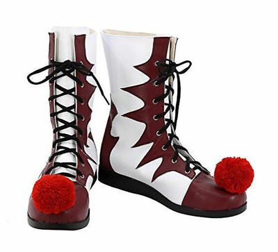 Stephen King's It Shoes Pennywise Clown Joker Cosplay Boots Halloween Cosplay fq