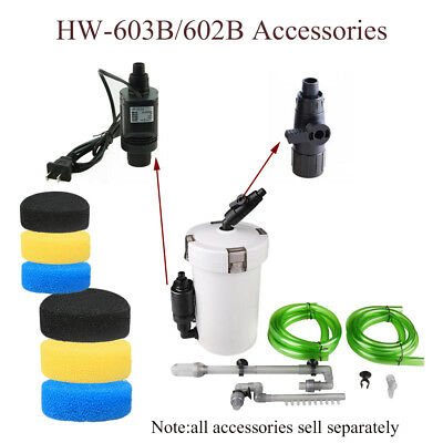 HW-602B/HW-603B Aquarium Filter External Parts Inlet Outlet Tube Pipe Water Pump