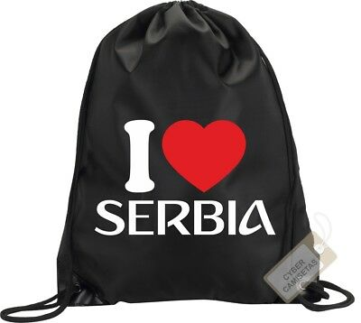 I Love Serbia Mochila Bolsa Gimnasio Saco Backpack Bag Gym Serbia Sport
