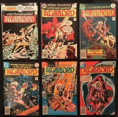 54 Warlord Issues -Low Grade- Including #1, 6, 7, 63, 133 & Annual 1, 6