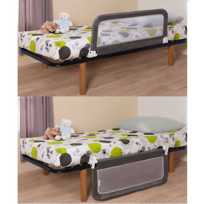 Safety 1st Portable Bed Rail Dark Grey Kids Foldable Bed Barrier Children Secure