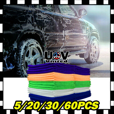 Bulk Pack Microfiber Cleaning Cloth Towel No-Scratch Rag Car Polishing Detailing
