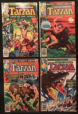 7 Tarzan Lord of the Jungle Issues -Mid to Low Grade-