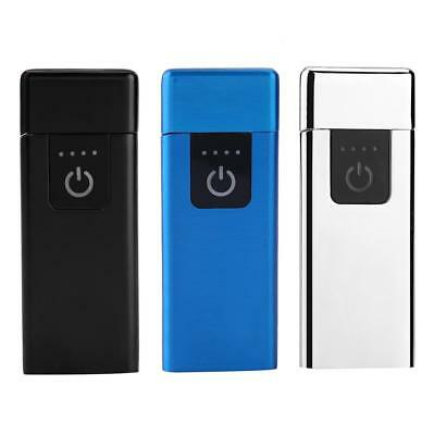 USB Rechargeable Electric Touch Sensor Lighter Ultra-thin Flameless Windproof dr