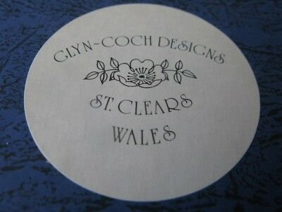 """Collectors Plate  Glyn-Coch Designs  St.Clears Wales.  """"Teifi Oracles"""" VGC"""