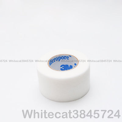 """3M MICROPORE PAPER SURGICAL TAPE 1"""" 10YD (2.5cm X 9m) EYELASH EXTENSIONS (WHITE)"""