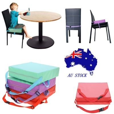 Portable Kids Dining Chair Highchair Booster Cushion Pad Baby Booster Seat AU