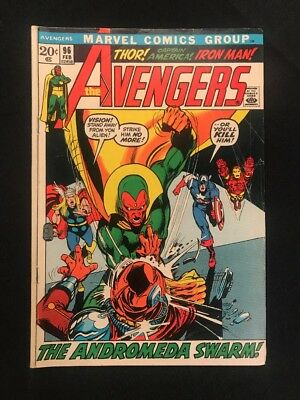 The Avengers #96 VG Neal Adams Cover 1972