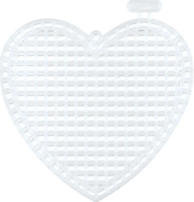 """Darice Plastic Canvas Shapes 7 Count 3"""" Pack of 10 Hearts Clear + FREE P&P"""