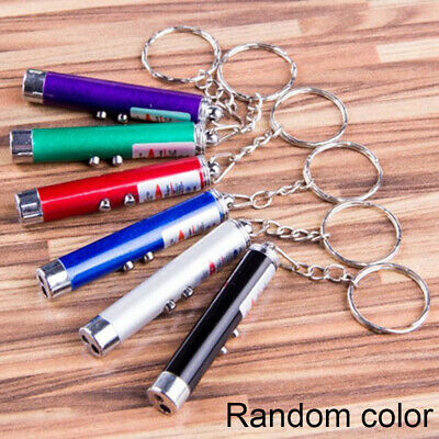 Be Ultraviolet Mini Money Detector Red Laser Pointer Pen LED Light Keychain toy