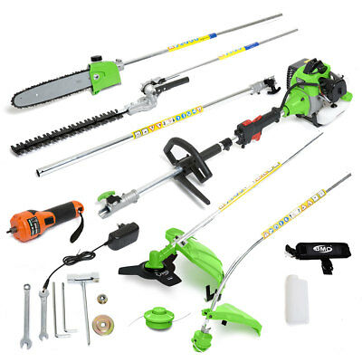 ExDemo - G-Whizz ELECTRIC START 33cc Petrol Multi Tool Brush Hedge Grass Trimmer