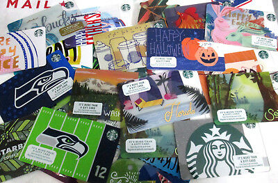 Lot Of 200 Starbucks Gift Cards +25++ Free New Card Holder/sleeves