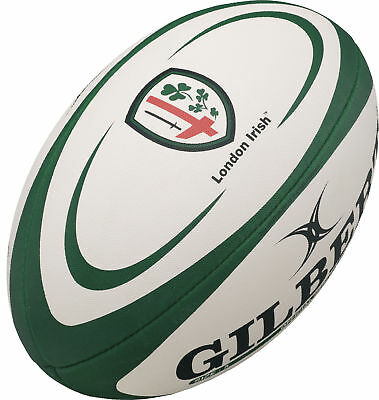 Clearance Line New Gilbert Rugby London Irish Replica Rugby Ball Size 5