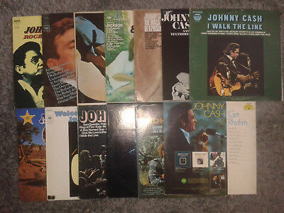 Johnny Cash - Country & Folk Vinyl-Sammlung Plattensammlung 13 Alben