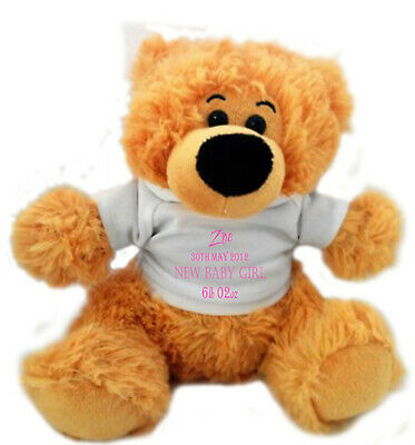 Personalised Large Teddy Bear New Baby Lovely Keepsake Gift for your New Born