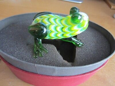 Fritz and Floyd Glass Menagerie Frog Complete in Box Very Nice