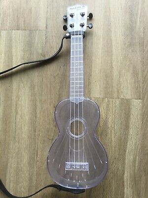 Used Makala Waterman Soprano Ukulele All Clear With Leather strap