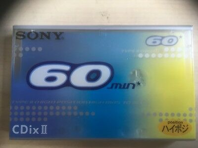 Sony Cdix Ii 60 Factory Sealed Audio Cassette Japan