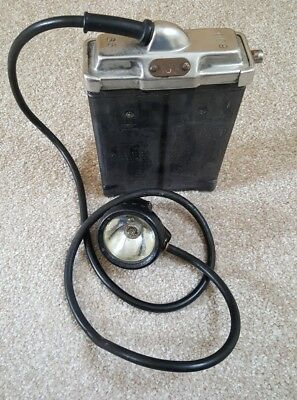 """Vintage Oldham Type """"t2"""" Miners Lamp - Head Torch - Miners Light Miners Lamp"""