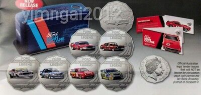SOLD OUT Immediately! 2018 Ford Motorsport High Octane Cars 50c 7 Coins Full Set