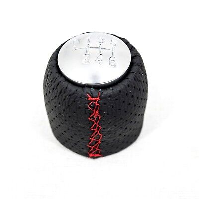ALFA ROMEO Brera Spider Gear Shift Knob Speed Real Leather Red - Alfa romeo shift knob