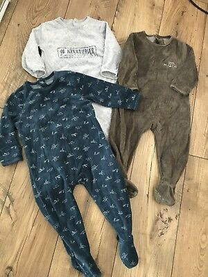 La Redoute Boys Babygrows/sleepsuit (12-18months)next Day Post
