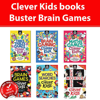 Clever Kids Buster Brain Games by Gareth Moore Children's puzzle book NEW