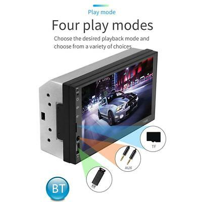 """7"""" 2 Din Touch Screen Car MP3/MP5 Player Bluetooth Stereo FM Radio USB/TF/AUX UK"""