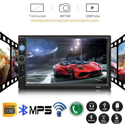 7 Inch Double 2DIN Car FM Stereo Radio USB/MP5 Player Touch Screen Bluetooth UK