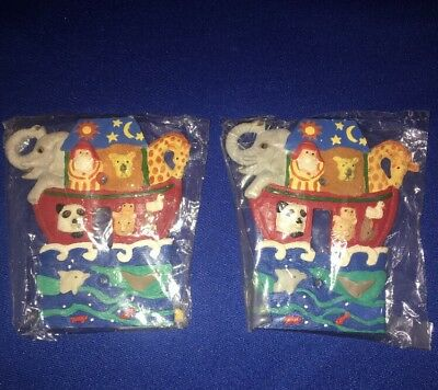 Set of 2 matching Noahs ark switch plate covers