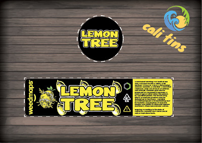 10x Lemon Tree 60ml Cali Tin JAR labels