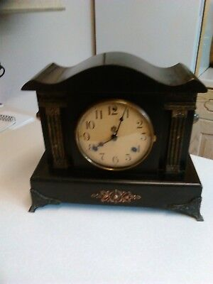 Antique Waterbury Clock Co, USA Mantle Clock - Working (1165)