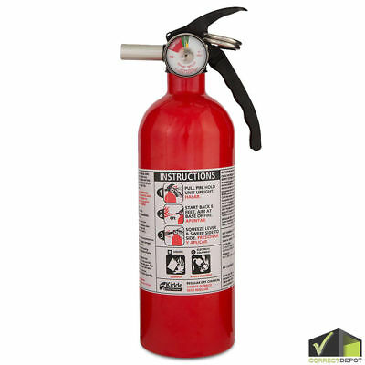SET OF KIDDE FIRE EXTINGUISHER Home Car Safety Dry Chemical Garage Kitchen 5 B:C