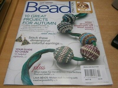 Bead & Button magazine Oct 2018 10 Great projects for Autumn + Holiday Beading