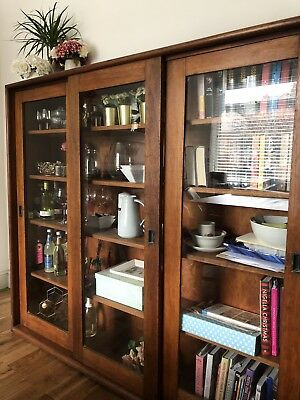 Solid Wood Vintage Georgian Bookcase. **Reduced Price **