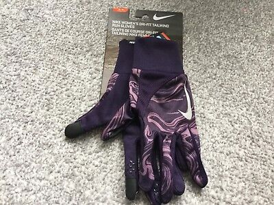 Nike Womens Dri-Fit Tailwind Running Gloves-BNWT-M