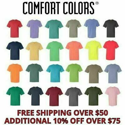 Comfort Colors Men's Short Sleeves Ringspun Garment Dyed T-Shirt 1717 S-3XL NEW