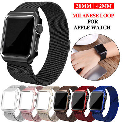 Stainless Steel Magnet Loop Band Strap For Apple watch 1 2 3 iWatch Band 38/42mm