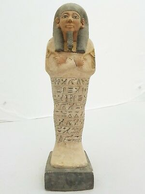 Rare ANTIQUE ANCIENT EGYPTIAN USHABTI (SHABTI) NEW KINGDOM PHARAONIC STATUE BC
