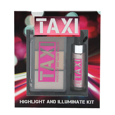 W7 Cosmetics Taxi Face & Body Highlight Illuminate Glow Palette Kit & Drop