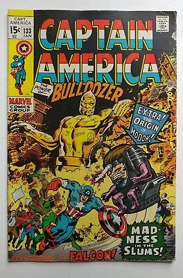 Captain America #133 1971 Key book origin Modok ! Infinity War 2 movie soon WoW!