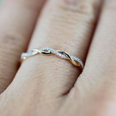 Twisted Shape Diamond Engagement Ring Stacking Matching Band Anniversary Ring