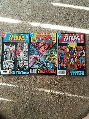 TALES OF THE NEW TEEN TITANS #42,43,44 (DC 1984) The Judas Contract