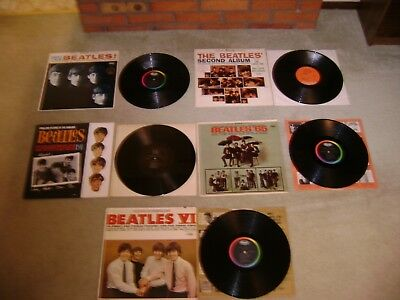 Lot Of 5 Vintage Beatles Record Albums-All Very Nice-All Records MINT!